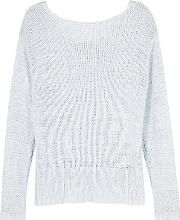 Nero Ice Blue Open Knit Jumper