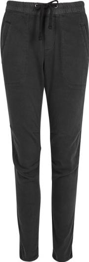 Charcoal Twill Trousers Size 0