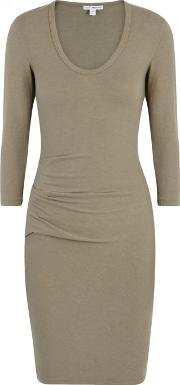 Taupe Brushed Jersey Dress Size 1