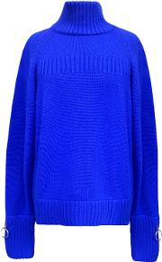 Cashmere Turtle Neck Jumper Blue
