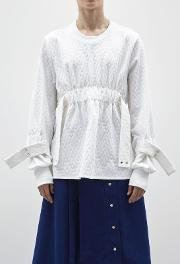 Ricarda Gather Jumper White