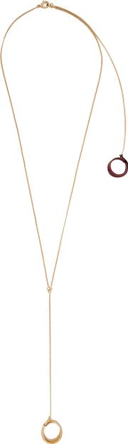 Gold Plated Hoop Necklace