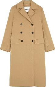 Lucien Camel Double Breasted Cashmere Coat