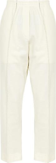 Off White Wool Trousers
