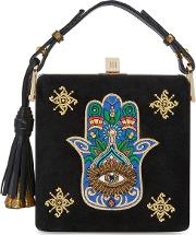 Charles Embroidered Suede Box Bag