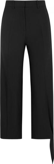 Black Cropped Straight Leg Trousers Size 12