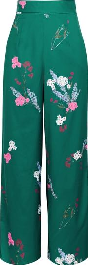 Told You Floral Print Wide Leg Trousers