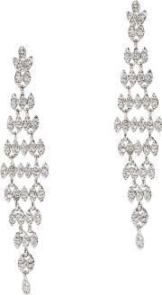 Crystal Embellished Drop Earrings