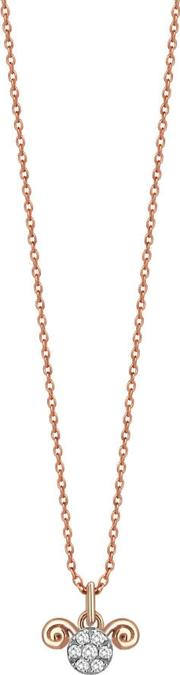 14ct Rose Gold And Diamond Aries Zodiac Necklace