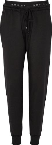 Station Black Jersey Jogging Trousers