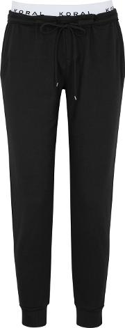 Station Black Terry Jogging Trousers