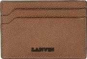 Brown Grained Leather Card Holder