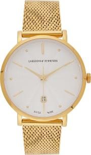 Aurora Gold Plated Sterling Silver Watch