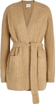 Firenze Ribbed Cashmere Cardigan