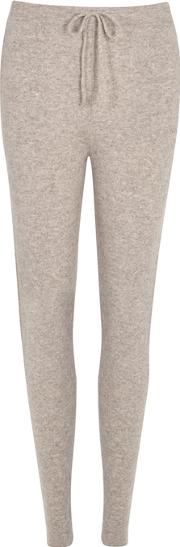 Kenya Taupe Cashmere Jogging Trousers