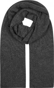 Meribel Charcoal Cashmere Scarf