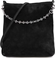 Candybag Black Suede Shoulder Bag
