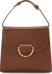 Casual Lady Chestnut Leather Cross Body Bag