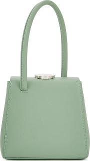 Mademoiselle Green Leather Top Handle Bag