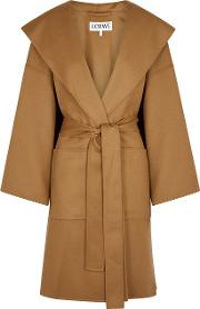 Camel Wool And Cashmere Blend Coat