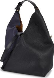 Sling Two Tone Leather Hobo Bag