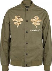 Madder Tour Embroidered Bomber Jacket Size M