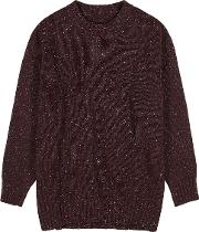 Burgundy Wool Blend Jumper