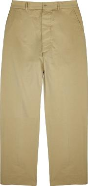 Sand Relaxed Cotton Chinos