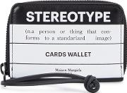 Stereotype Printed Leather Card Holder