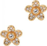 Crystal Embellished Gold Tone Earrings