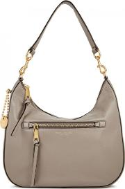 Recuit Taupe Leather Hobo Bag