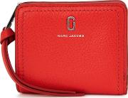 Red Grained Leather Wallet