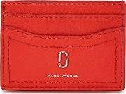 Red Leather Card Holder