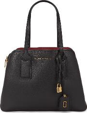 The Editor Black Pebbled Leather Tote