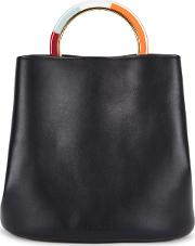 Pannier Black Leather Bucket Bag