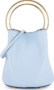Pannier Small Blue Leather Bucket Bag