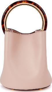 Pannier Small Pink Leather Bucket Bag