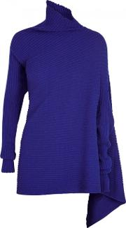 Cobalt Asymmetric Ribbed Jumper Size