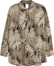 Fiabe Printed Silk Blouse Size 10