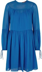 Otello Blue Silk Chiffon Dress
