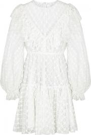 Victorian Ruffled Trimmed Lace Dress Size 10
