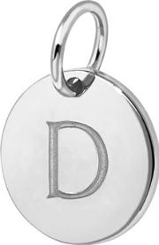 D Sterling Silver Charm