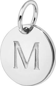 M Sterling Silver Charm