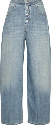 Blue Stone Bleached Wide Leg Jeans
