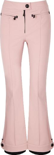 Blush Flared Stretch Twill Trousers