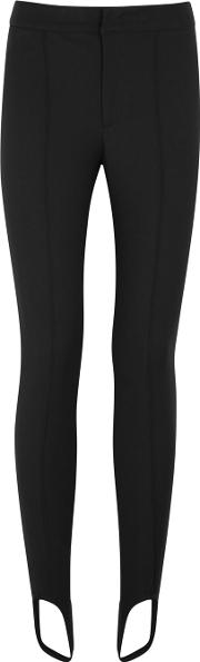 Casual Black Stretch Twill Trousers