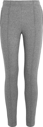 Grey Melange Jersey Jogging Trousers