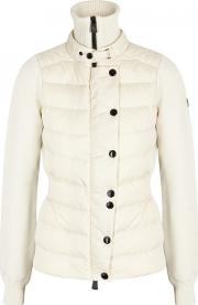 Ivory Panelled Wool Blend Jacket