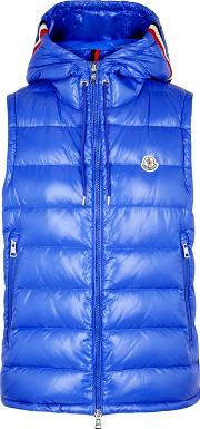 Lanoux Blue Quilted Shell Gilet