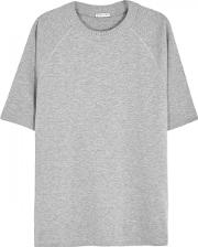 Grey Printed Cotton T Shirt Size S